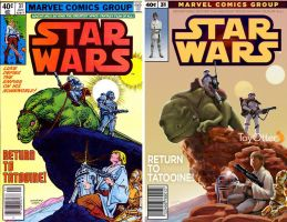 Marvel Star Wars Comic Cover recreation by ToyOtter