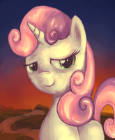 Sweetie Belle guide to Everfree Forest by Oblitor