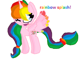 Rainbow Splash Fanart by fluffycatjeff