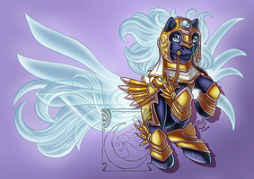 Chibi Mounts - Tyrael Charger by LadyRosse