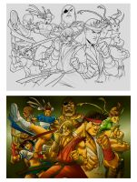 Street Fighters Photoshop by taguiar