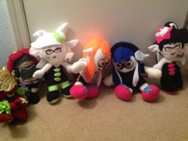 My Splatoon Plush Collection by LuigiFan00001