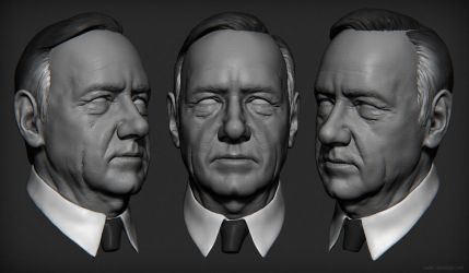 Frank Underwood Sculpt by mavhn