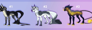 Canine adoptable batch #2 OTA [ CLOSED ] by Marcella-Youko