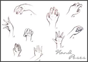Sketched Hand Poses by Halo-2-fan