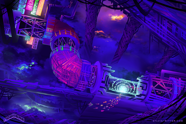Downtown - Nowhere Concept Art by SylviaRitter