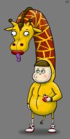 Giraffe Kid by SeanDrawn