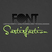 Font Satisfaction rar by LeahEditiions