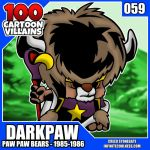 100 Cartoon Villains - 059 - Darkpaw! by CreedStonegate