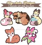 TPS: Kickstarter Kekitsune and Friends Key-chains