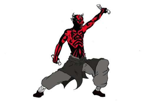Darth Maul sketch colored by fruckles