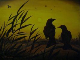The Crows - sunset by Vampiria69