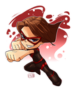 Chibi Captain Sarcastic Commission by wooserr
