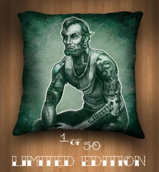 HONEST ABE PILLOW by telegrafixs