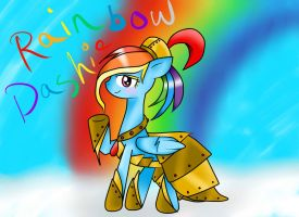 Rainbow Dash: the ancient Greek mare -done- by voidless-rogue