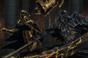 Dark Souls 2: Velstadt vs Raime by MenasLG