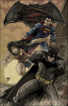 DC Trinity in Color (WIP) by tannerwiley