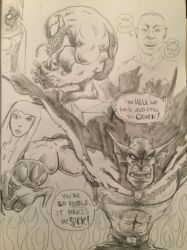 Late night pencils, Etrigan and Venom  by FWACATA
