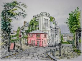 La Maison Rose, Montmartre, Paris by jeffsmith1955