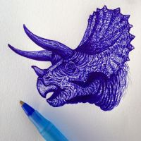 Triceratops by arte-Claudette