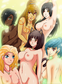 FREE BOOBIES//Playtime with the girls by Shadako26