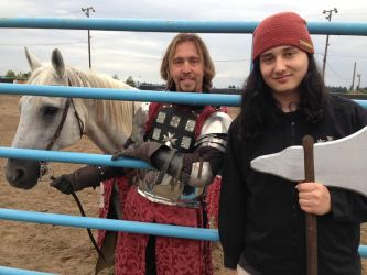 me my Ax and Sir Tristan of Scotland by scottish-geeky