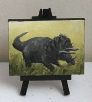 Mini Triceratops by crazycolleeny