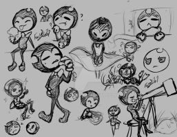 bendy doodles/sketches  by FoxyD101
