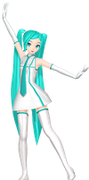 MMD DT Edit: Airline Resort Miku v2 WIP by MisakiGalhardo