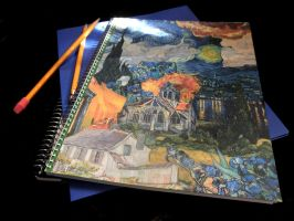 Van Gogh Collaged Notebook by onecolouredsky