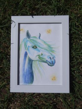 horse watercolor by maDmoiseel
