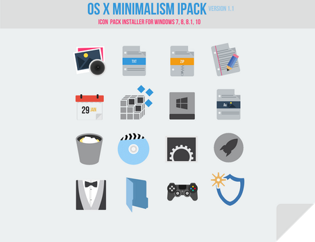 OS X Minimalism iPack (Icon Pack Installer) by Mr-Blade