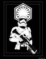 Stormtrooper First Order by drawnblud