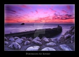 Sunset at Portreath, Cornwall by littlefires
