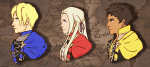 Fire Emblem Three Houses protags by inesp22