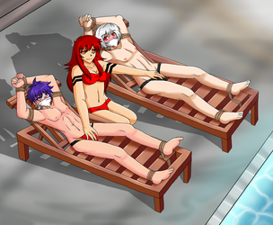 Commission - Relaxing Poolside by Vulnerix