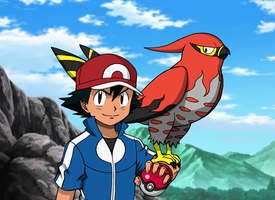 Ash and Talonflame V2
