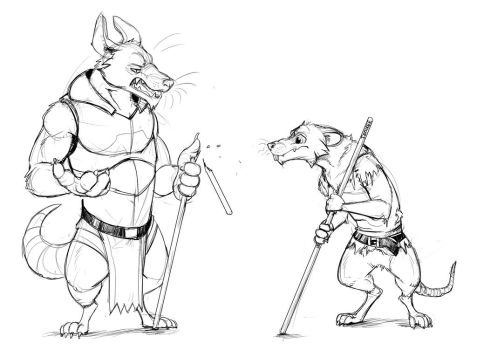 Thick and Thin (Sketch) by Temiree