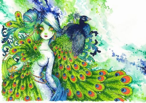 The Peacock by DazedPink