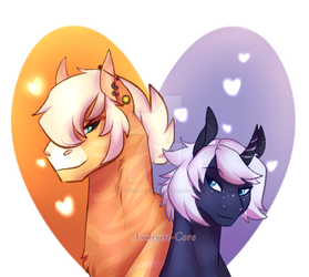 Opposites- PPP OC's llSangha and Illusenll by Assasin-Core