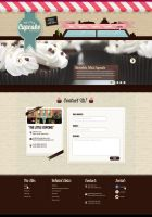 PSD Template - The Little Cupcake Contact by odindesign