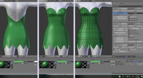 Tink Dress WIP 01 by BubbleCloud