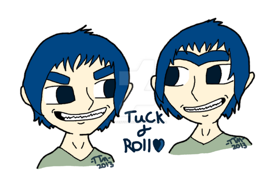 Tuck and Roll humanized head to shouldersWM by TatterTotMinion
