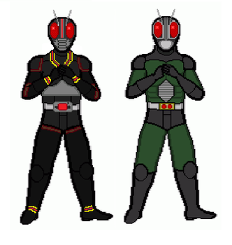 Kamen Rider BLACK and BLACK RX by dondepp