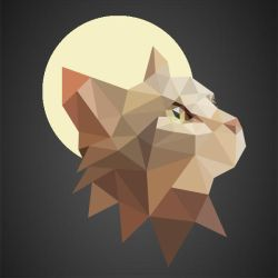 Low Poly - Cat by augusto457-2