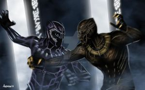 Battle for the Future of Wakanda by Bakabakero