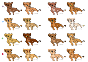 Lion King Adoptables 1 by JeanZedlav