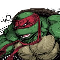 Digital Sketch Warm up - 25 Raphael TMNT by Vostalgic