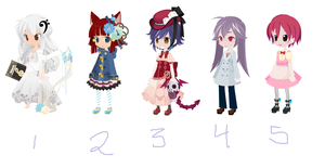 Special Adopts Free~!(1 Open) by StarlitMoth
