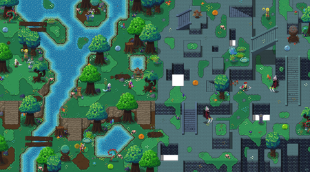 Galatia Forest Tilemap Mock-up by RollToNotDie